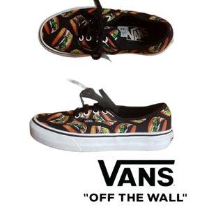 Vans off the Wall- Late Night Hamburger shoes